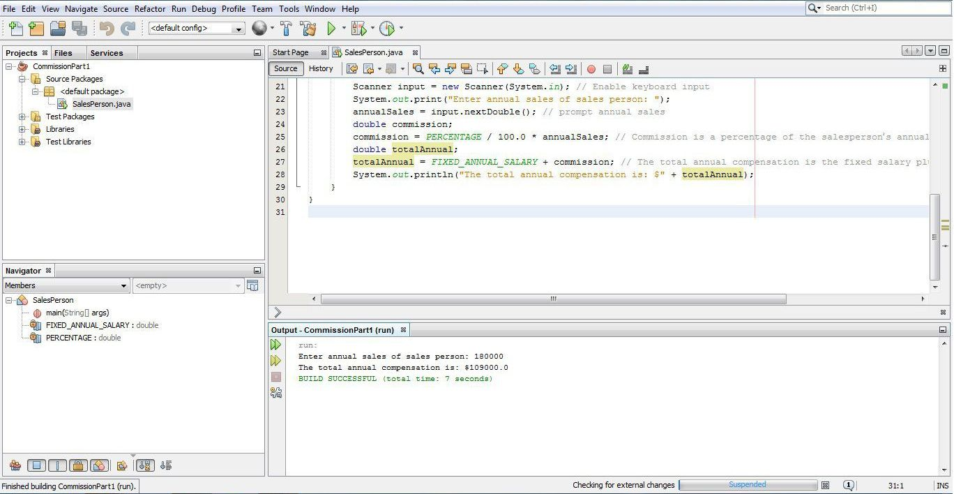 simple commission calculation program part 2 java Polymorphism enables us to program in the general rather than program in the  specific  class and the part of the simulation that instantiates a tortoise object   1 // figure 101: polymorphismtestjava 2 // assigning superclass and  to  subclass object: base-salaried commission employee: bob lewis.